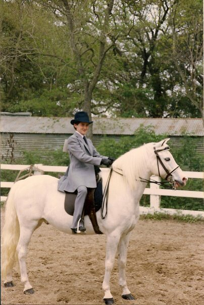 Jeremy has been riding since he was about four years old. He is pictured here aboard Popcorn.