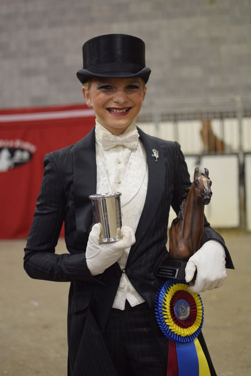 Alayna Applegate won the UPHA Junior Challenge Cup National Championship aboard a borrowed horse, Mocha's Mudslide.