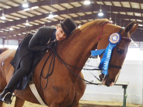 Sydney Young won Saddle & Bridle's Pleasure Equitation Medallion.