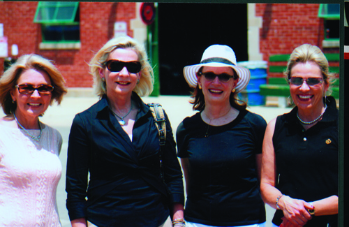 Vicki with horse show friends, Diana Schaefer, Deborah Jahn and Candace Meili.