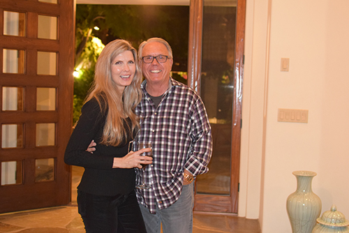Melissa Moore and Joe O'Brien hosted a wonderful welcome party at Joe's home.