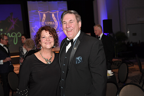 Scott and Carol Matton were the recipients of the Richard E. Lavery Professional Horsemen's Award. Photo by Howard Schatzberg.