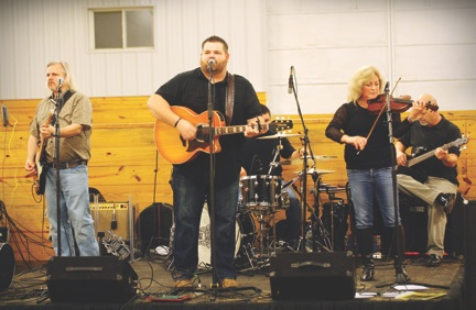 Monnington Farm's Christmas party last year included live music by the Allen Lane Band.