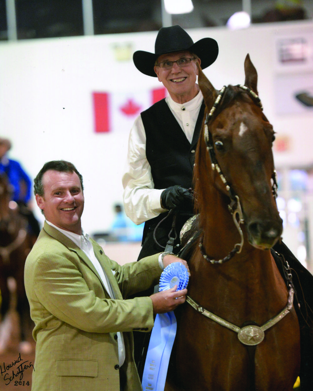 in 2013, Jack Swanson accepted a ribbon in Saddle & Bridle's Working Western Pleasure Finals proving that the top levels of horse showing can be enjoyed at any age.
