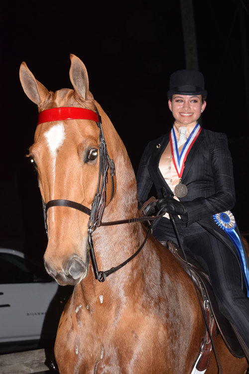 Sarah Rodgers-McCarthy won Saddle & Bridle's Pleasure Equitation Medallion.
