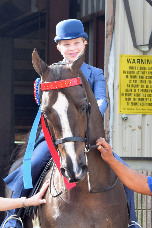 Caroline Katko was named the Walk/Trot Equitation 11 & Under Champion.