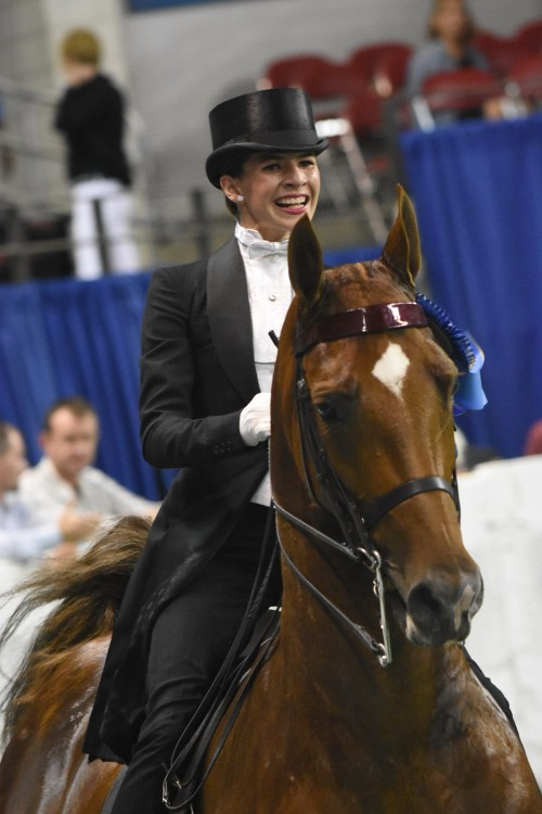 Isabella Privitera won the Saddle Seat Equitation 13 13 Years Old qualifier and then went on to take the Junior Equitation Worlds Champion of Champion honors