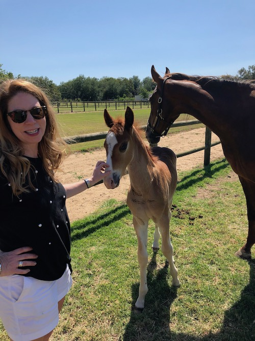 Christy with Thornbird's Final Star and her foal by Undulata's Mr. President.