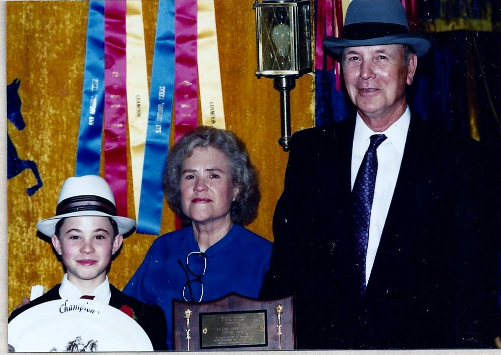 Michael with his grandparents.