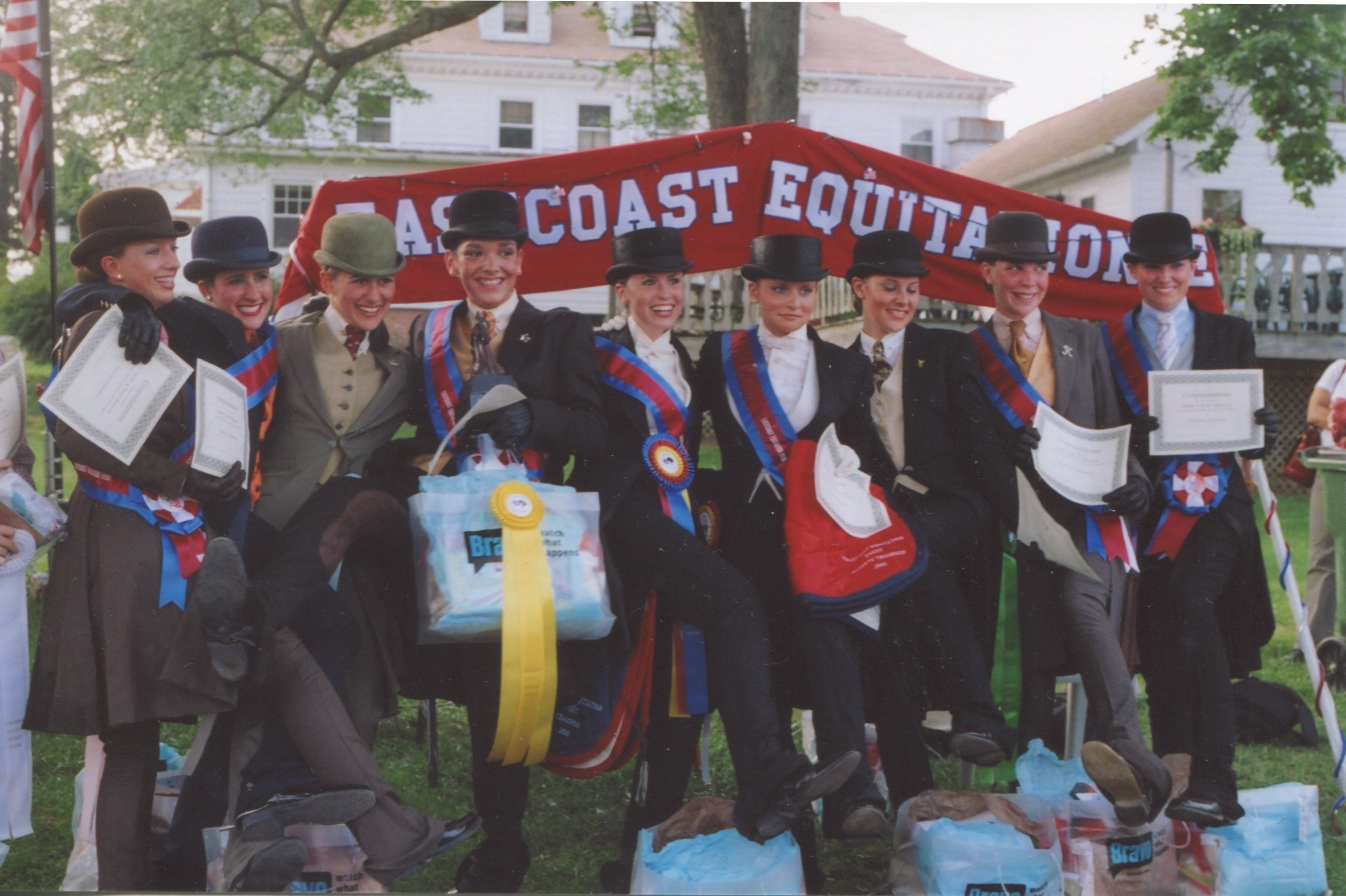The Top Ten of the East Coast Equitation Event, which was held at Quentin in 2005.