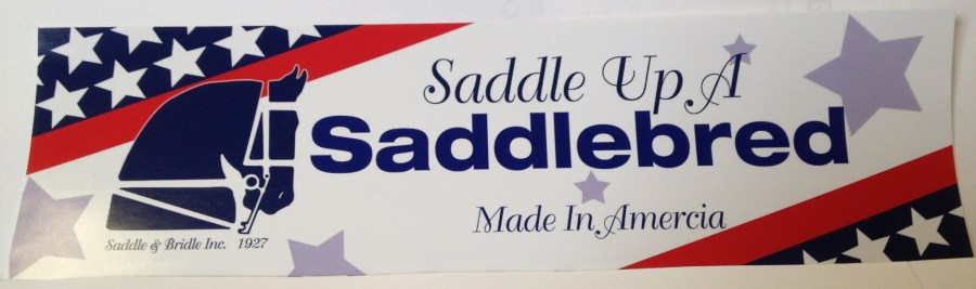 SaddleUpASaddlebredBumperSticker