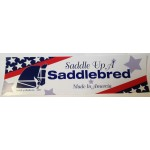 Saddle Up A Saddlebred Bumper Sticker